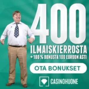 Casino Huone 400 Free Spins and 100% Welcome Bonus for Finland