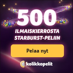 Kolikkopelit Casino 500 Free Spins no deposit bonus for Finland