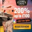 CasinoCruise – 55 free spins on Starburst – no deposit bonus!