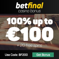 Betfinal Casino free bonus