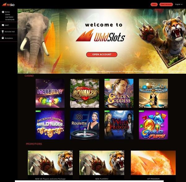 WildSlots free spins bonus