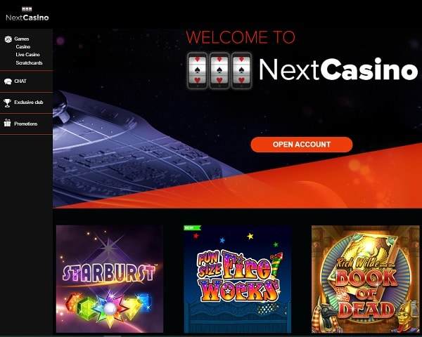 Free Spins after first deposit to NextCasino Online