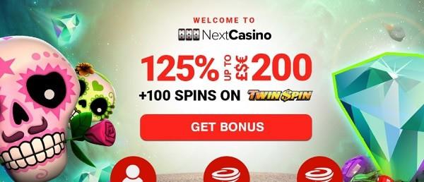 NextCasino welcome bonus