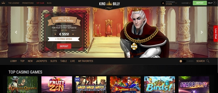 King Billy Casino Review: play, win, enjoy!