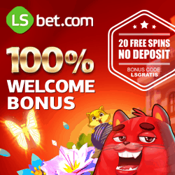 LSbet Casino   20 free spins gratis (code: LSGRATIS) + $300 free bonus