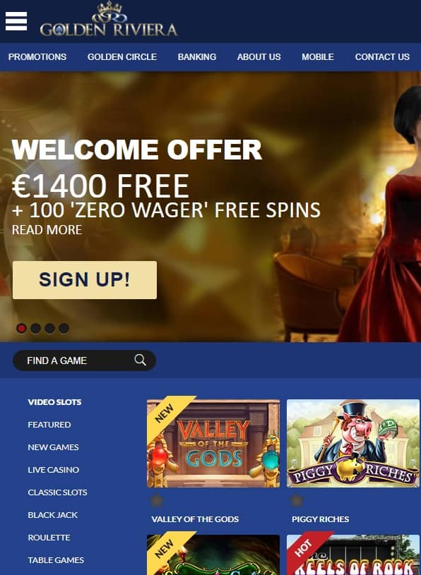 Golden Riviera Casino Review