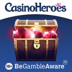 Casino Heroes €5 bonus without deposit and 900 free spins on slots