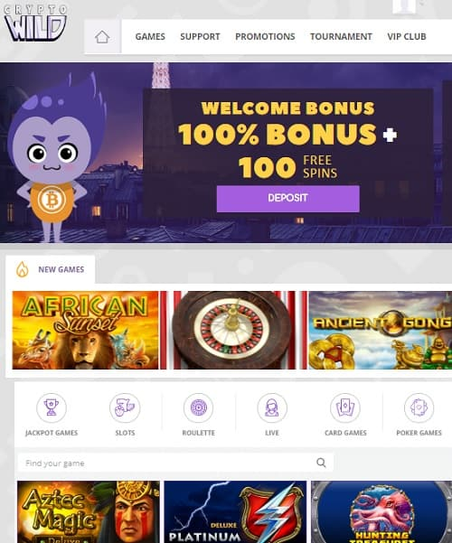 Cyrptowild Casino Online and Mobile