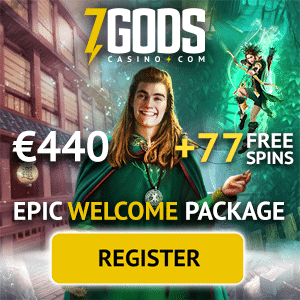 7 Gods Casino - exclusive bonus: €440 free chips and 77 free spins