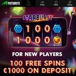 Futuriti Casino   200% bonus + €1000 gratis + 100 free spins