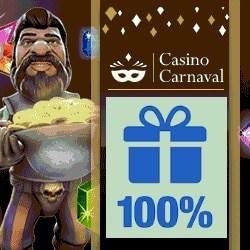 CasinoCarnaval.com100% bonus on slot machines & virtual games