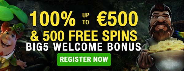 500 FS bonus and 500 EUR free cash