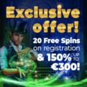 Rembrandt Casino 200€ gratis + 20 free spins no deposit bonus