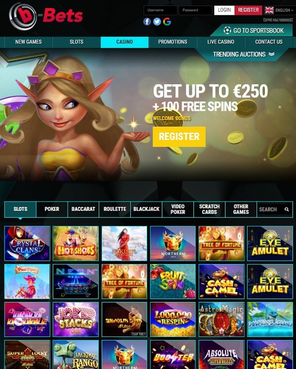 Get 250 EUR and 100 Free Spins!