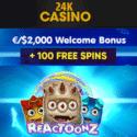 24K CASINO - free spins, bitcoin bonus, free play games
