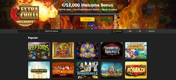 2000 EUR high roller bonus for new customers of 24KCasino Online