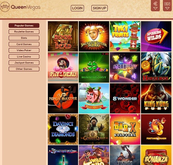 Queen Vegas Casino review and rating