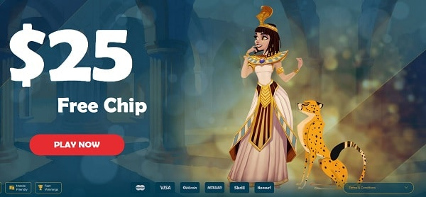 $25 free chip casino bonus, no deposit required!