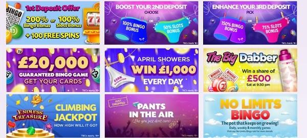 Lucky Pants Bingo and Casino welcome bonus