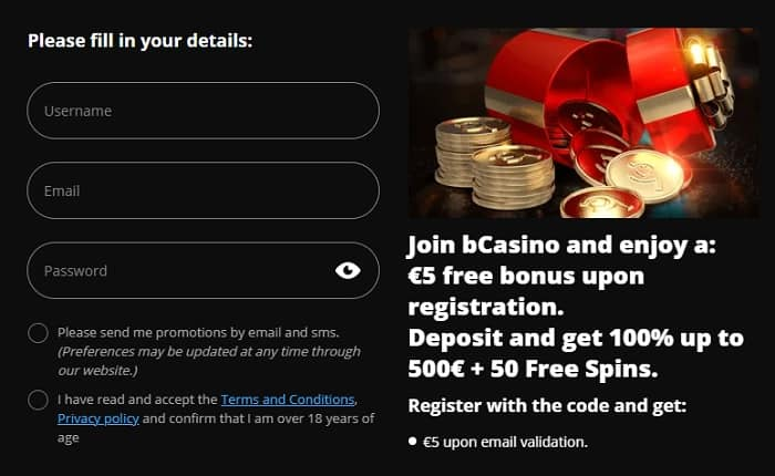 Register now and get free bonuses!