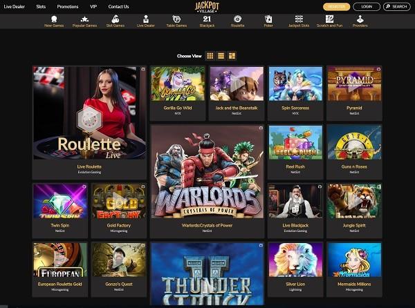 Jackpot Village free spins on slots