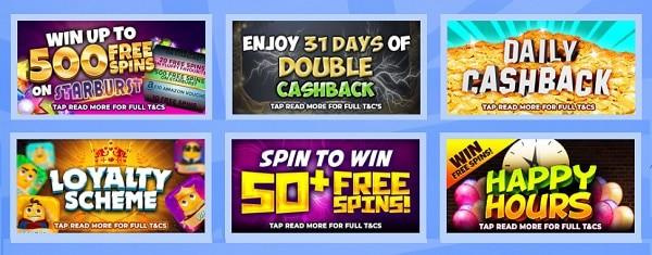British Spins Casino 500 free spins on Starburst now