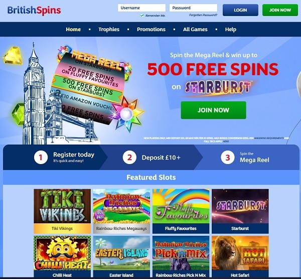 British Spins Casino Review