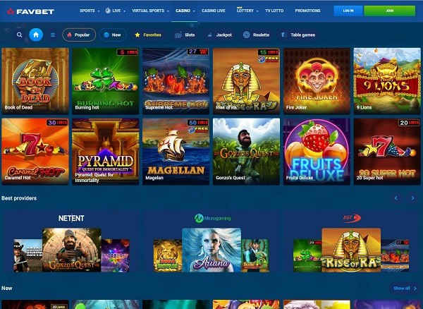 FAVBET Casino Review