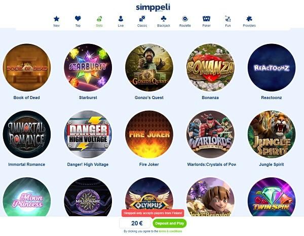 Simppeli Casino Review