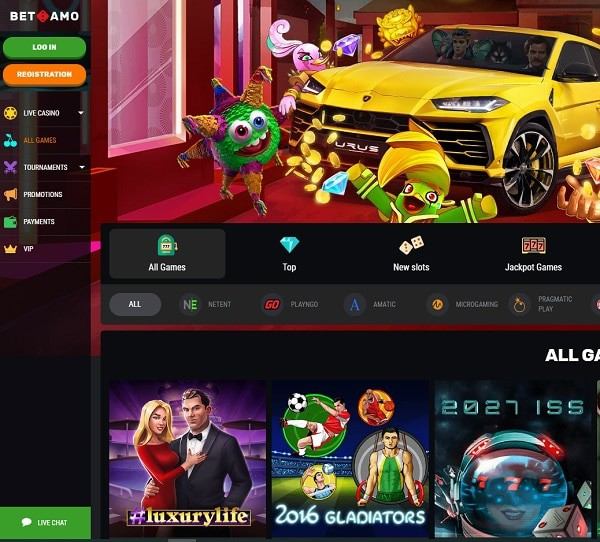 Betamo Casino Online and Mobile