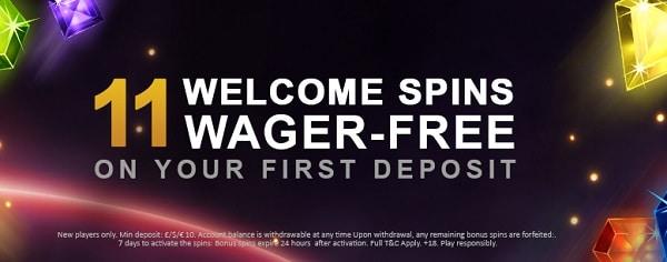 Videoslots.com 11 free spins bonus