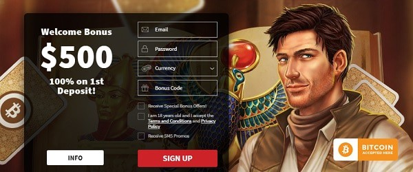 Claim $500 welcome bonus and 170 free spins