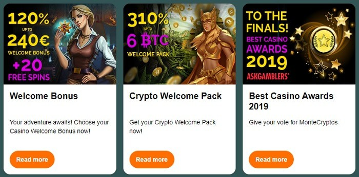 Montecryptos latest promotions