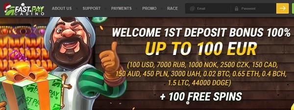 Fastpay Casino Welcome Bonus