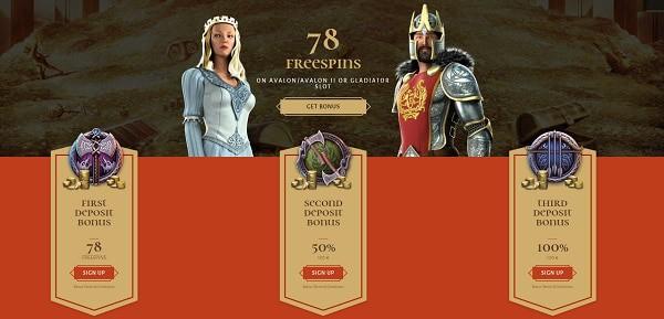 78 free spins on Avalon II