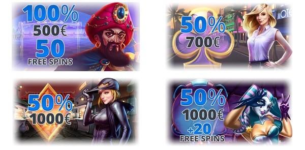 Ego Casino free spins bonus