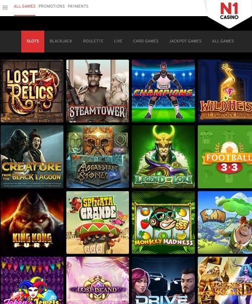 N1 Casino free spins bonus code