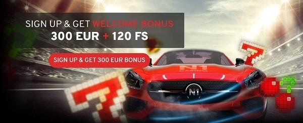 Welcome Bonus Pack at N1Casino.com