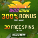 Wild Joker Casino 80 free spins and $2,000 exclusive bonus