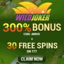 Wild Joker Casino 30 Free Spins and 300% Bonus Code