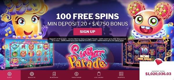 100 free spins gratis