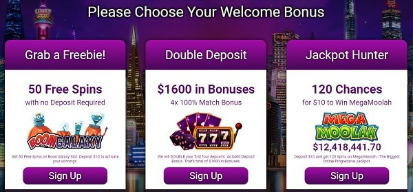 3 Welcome Offers to choose from