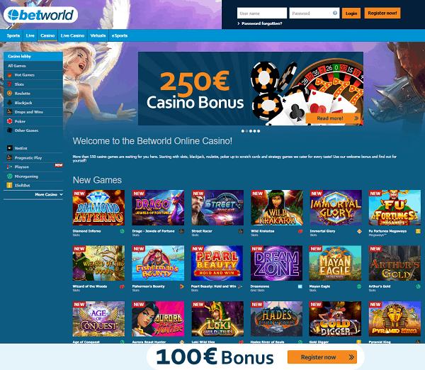 BetWorld.com Casino Review