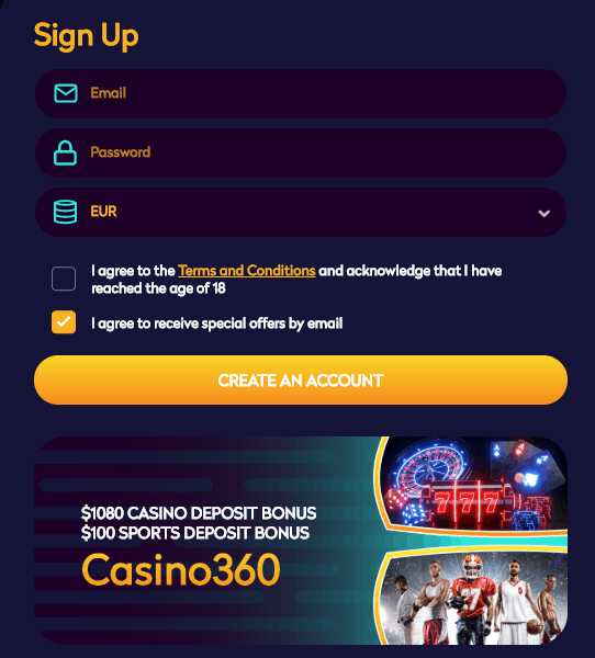 Create an account for free and play to win real money!