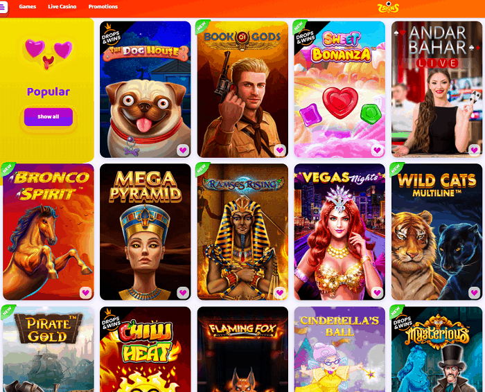 Play the best video slots, live dealer and poker