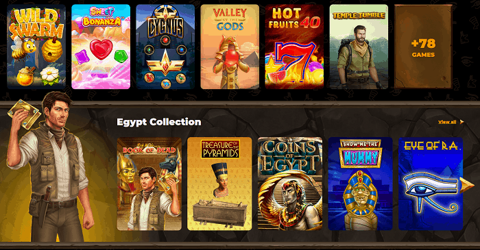 Slots and Live Casino