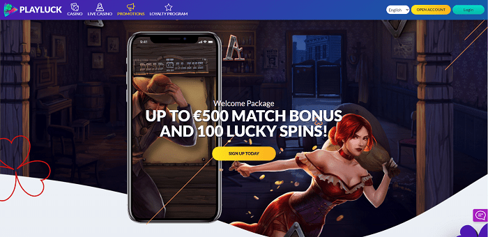 Welcome Bonus: 100 free spins + 500 EUR free cash
