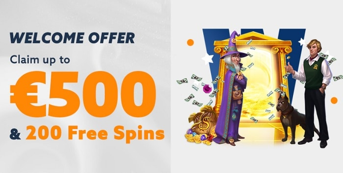 Get 500 euros and 20 free spins on first deposit