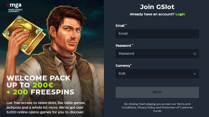 200 freespins and 150% welcome bonus