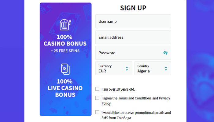 Saga Casino Sign Up